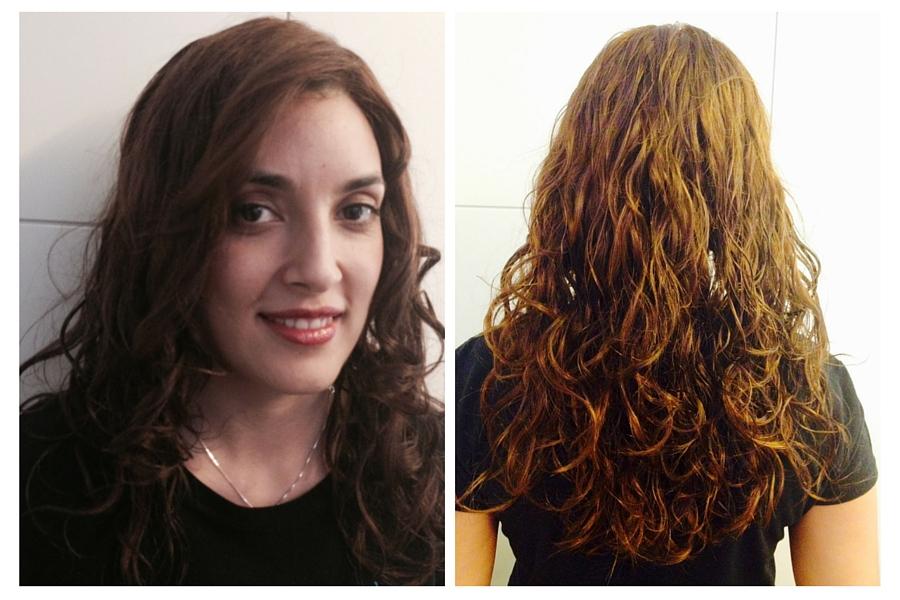 Peluca rizada de cabello natural